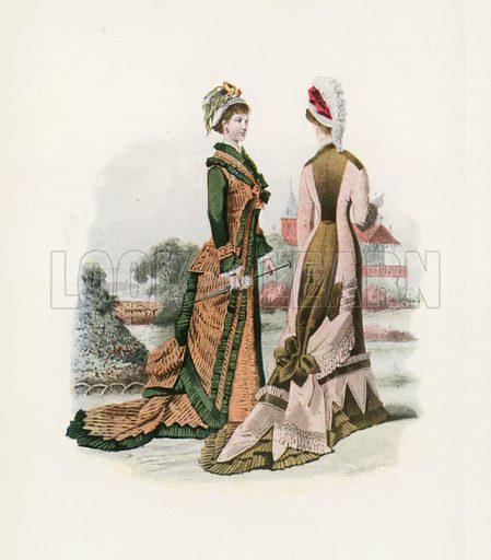 1877. Illustration for Dame Fashion (Sampson Low, 1913).