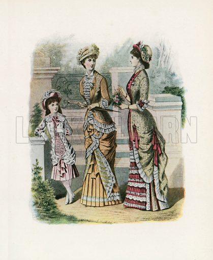1879. Illustration for Dame Fashion (Sampson Low, 1913).