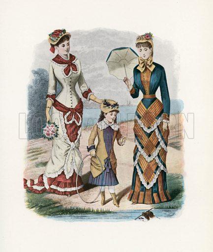 1880. Illustration for Dame Fashion (Sampson Low, 1913).