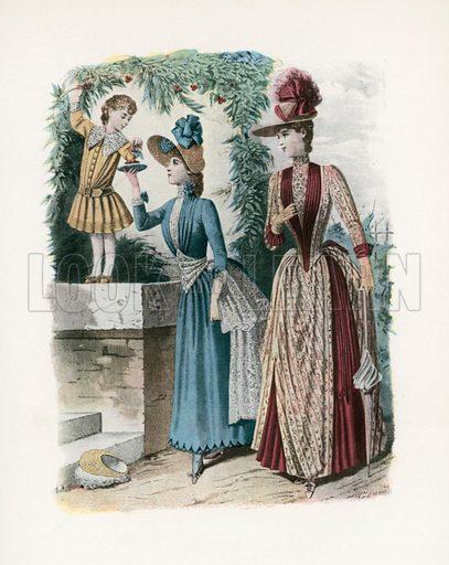 1888. Illustration for Dame Fashion (Sampson Low, 1913).