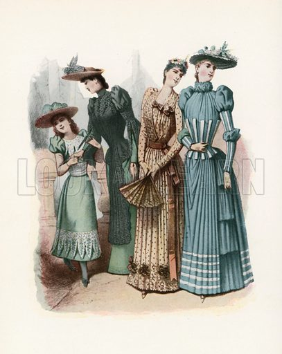 1890. Illustration for Dame Fashion (Sampson Low, 1913).