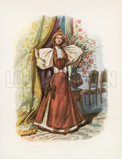 1895. Illustration for Dame Fashion (Sampson Low, 1913).