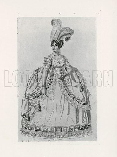 1806. Illustration for Dame Fashion (Sampson Low, 1913).