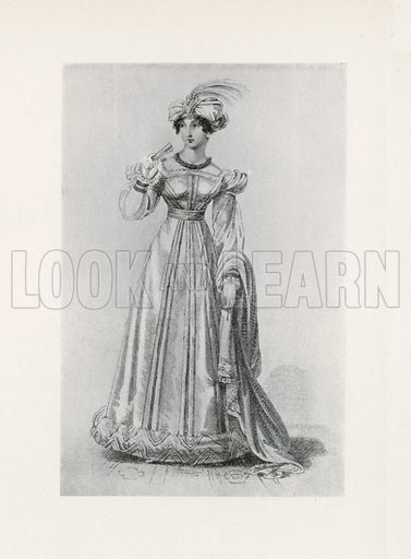 1824. Illustration for Dame Fashion (Sampson Low, 1913).