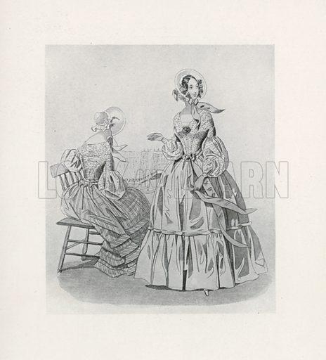 1840. Illustration for Dame Fashion (Sampson Low, 1913).