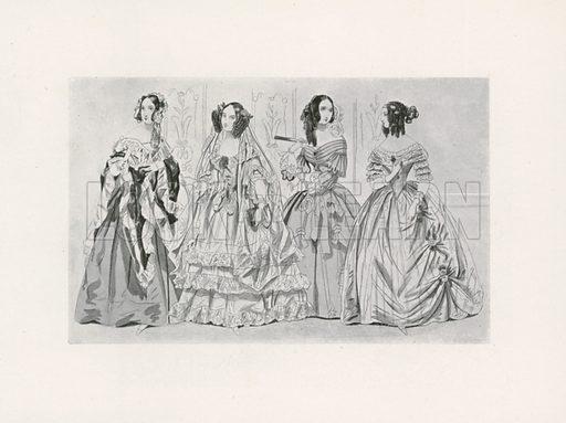 1841. Illustration for Dame Fashion (Sampson Low, 1913).