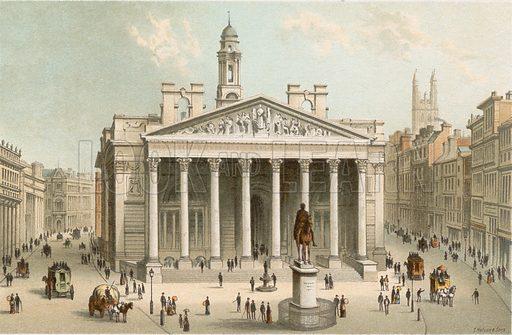 The Royal Exchange. Illustration for English Scenery (T Nelson, 1889). Chromolithographs.