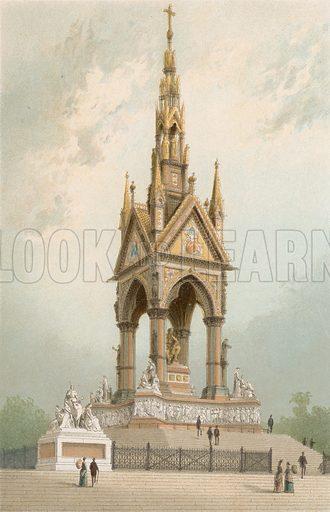 The Albert Memorial. Illustration for English Scenery (T Nelson, 1889). Chromolithographs.