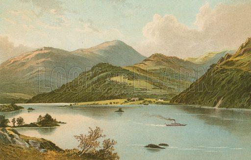 Ullswater. Illustration for English Scenery (T Nelson, 1889). Chromolithographs.