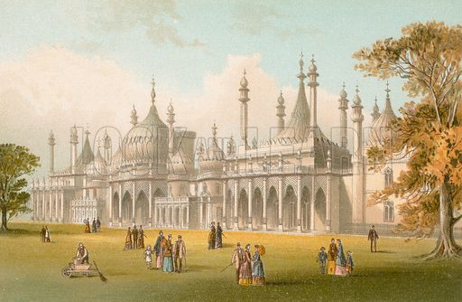 Royal Pavilion – Brighton. Illustration for English Scenery (T Nelson, 1889). Chromolithographs.
