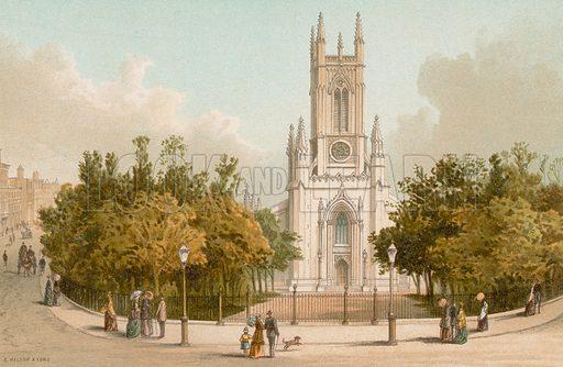 St Peter's Church – Brighton. Illustration for English Scenery (T Nelson, 1889). Chromolithographs.