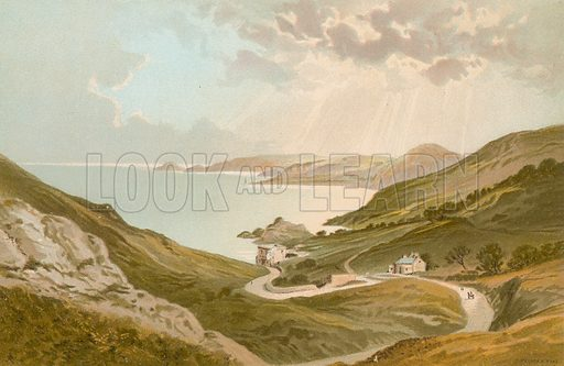 Bouley Bay – Jersey. Illustration for English Scenery (T Nelson, 1889). Chromolithographs.