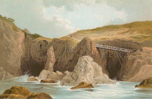 Plemont, St Ouen's – Jersey. Illustration for English Scenery (T Nelson, 1889). Chromolithographs.