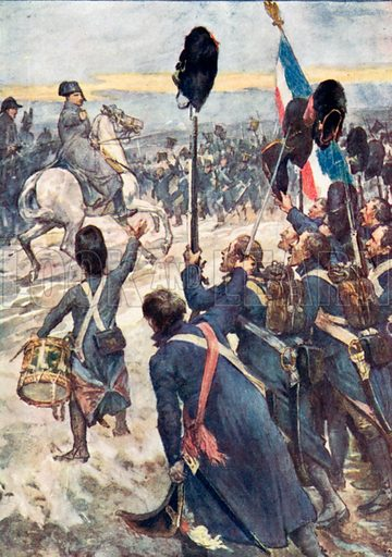 'Soldiers, This Battle must be a Thunder Clap.' Illustration for The Story of France by Mary Macgregor (Jack, c 1915).