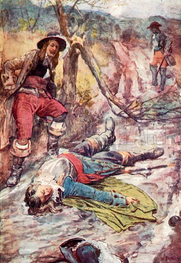 'To-Day a Man has Fallen who did Honour to Man.' Illustration for The Story of France by Mary Macgregor (Jack, c 1915).