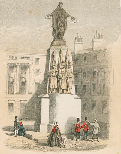 Monument to the Guards, London. Illustration for History of the Scottish Regiments (Thomas Murray, c 1880).