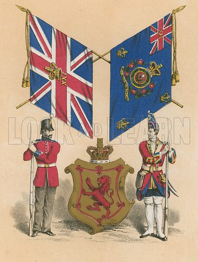 Twenty-First, or Royal North British Fusiliers. Illustration for History of the Scottish Regiments (Thomas Murray, c 1880).