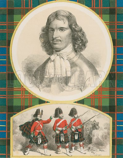 """Sir Ewen Cameron of Locheil. The Seventy-Ninth, """"or Cameron Highlanders."""" Illustration for History of the Scottish Regiments (Thomas Murray, c 1880)."""