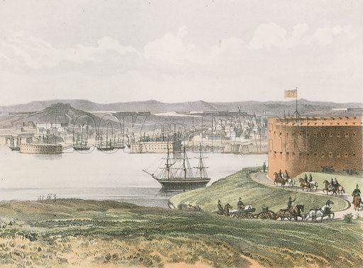 Sebastopol, from Fort Constantine. Illustration for History of the Scottish Regiments (Thomas Murray, c 1880).