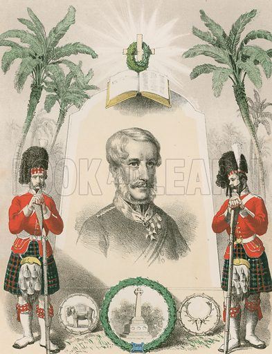 """Sir Henry Havelock. The Seventy-Eighth, or """"Ross-Shire Buffs."""" Illustration for History of the Scottish Regiments (Thomas Murray, c 1880)."""