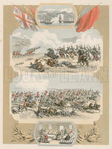 The Crimea. Illustration for History of the Scottish Regiments (Thomas Murray, c 1880).