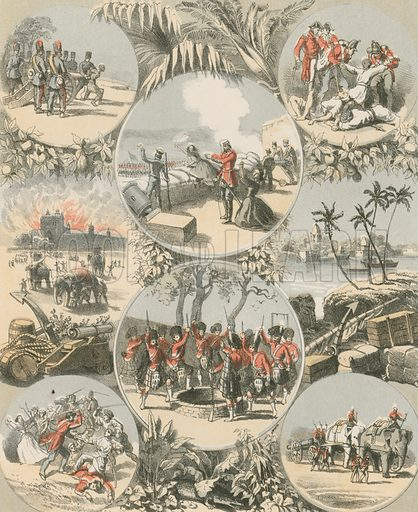 India. Illustration for History of the Scottish Regiments (Thomas Murray, c 1880).