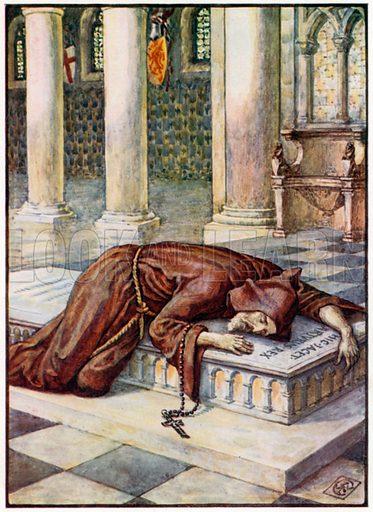 The Death of Sir Lancelot. Illustration for King Arthur's Knights (Jack, c 1905).