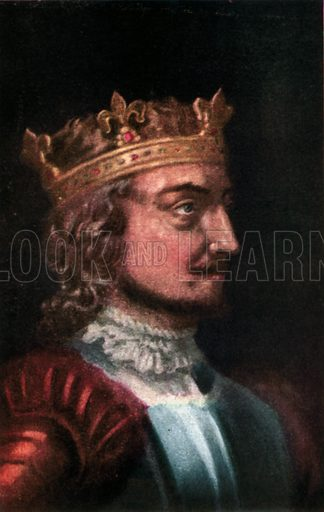 Stephen (of Blois). Illustration for The Portrait Book of the Kings and Queens of Great Britain (Jack, c 1915).