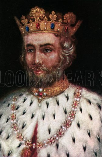 Edward II. Illustration for The Portrait Book of the Kings and Queens of Great Britain (Jack, c 1915).