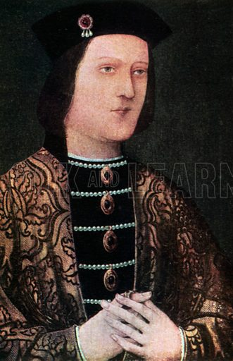 Edward IV. Illustration for The Portrait Book of the Kings and Queens of Great Britain (Jack, c 1915).