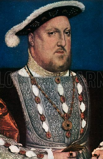 Henry VIII. Illustration for The Portrait Book of the Kings and Queens of Great Britain (Jack, c 1915).