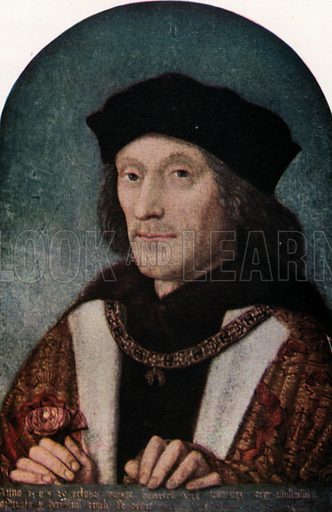 Henry VII. Illustration for The Portrait Book of the Kings and Queens of Great Britain (Jack, c 1915).