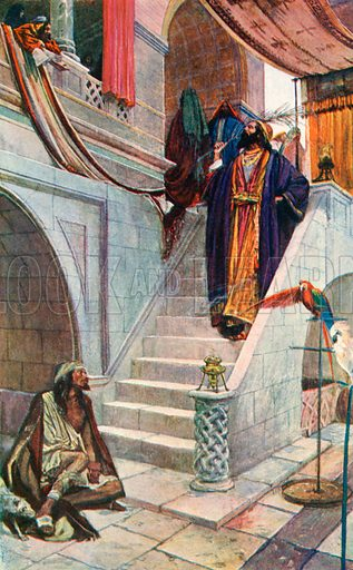 The Rich Man and Lazarus. Illustration for The Life of the Master (Hodder and Stoughton, 1901).