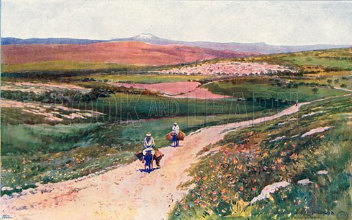Cana from the Road to Nazareth. Illustration for The Life of the Master (Hodder and Stoughton, 1901).