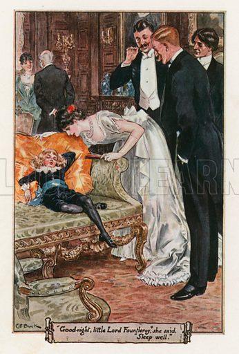 """Good-Night, Little Lord Fountleroy,"" She said ""Sleep Well"". Illustration for Little Lord Fauntleroy by Frances Hodgson Burnett (Frederick Warne, 1925)."