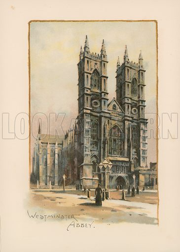 Westminster Abbey. Illustration for Pictures of London (Ward Lock, c 1880).