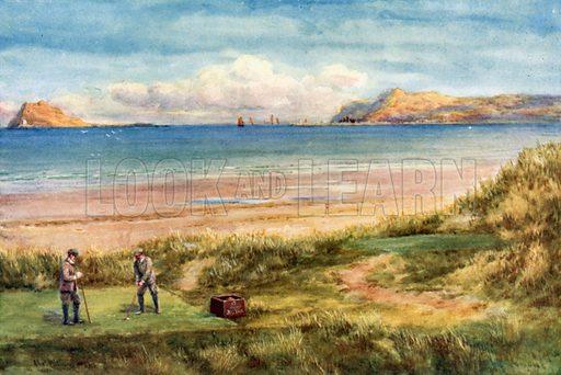 Portmarnock Golf Links. Illustration for Beautiful Ireland (Gresham, c 1905).