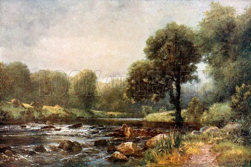 On the River Slaney at Ballintemple. Illustration for Beautiful Ireland (Gresham, c 1905).