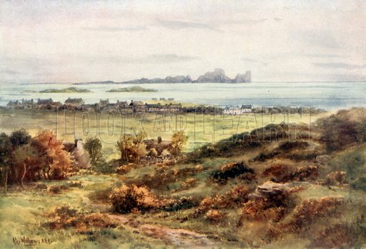 Tory Island from Falcarragh Hill, Donegal. Illustration for Beautiful Ireland (Gresham, c 1905).