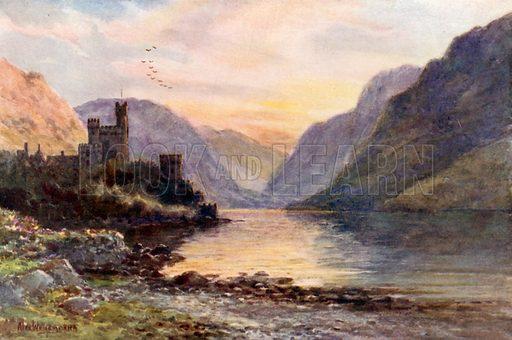 Glenveagh, Donegal. Illustration for Beautiful Ireland (Gresham, c 1905).