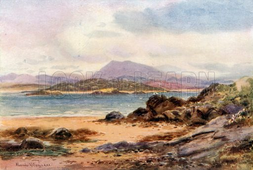 Muckish and Ards from Rosapenna, Sheephaven, Donegal. Illustration for Beautiful Ireland (Gresham, c 1905).