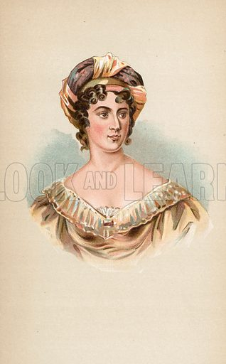 Madam de Stael. Illustration for The Life of George Brummell by Captain Jesse (Nimmo, 1886).