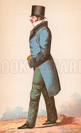 Mr Thomas Raikes. Illustration for The Life of George Brummell by Captain Jesse (Nimmo, 1886).