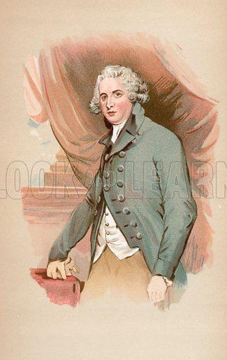 Richard Brinsley Sheridan, picture, image, illustration