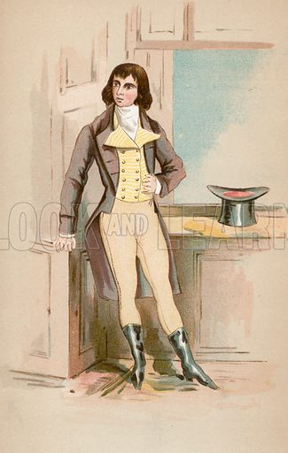 Beau Brummell. Illustration for The Life of George Brummell by Captain Jesse (Nimmo, 1886).
