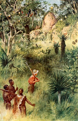 Mauch discovers Zimbabwe, picture, image, illustration