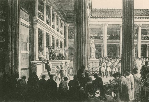 A Crim Nal Judgement in the Basilica. Illustration for Pompei Past and Present (Beccarini, c 1900).
