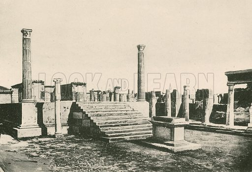 The Temple of Apollo as it is. Illustration for Pompei Past and Present (Beccarini, c 1900).