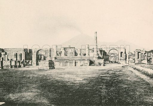 The Temple of Jove in the Civil Forum as it is. Illustration for Pompei Past and Present (Beccarini, c 1900).