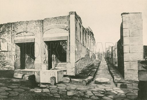 The Building of Eumachia as it is. Illustration for Pompei Past and Present (Beccarini, c 1900).
